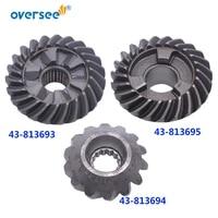 813693 gear kit for mercury mercruiser 50hp 55hp 60hp outboard motor forward 43 813693t pinion 813694t reverse 813695t