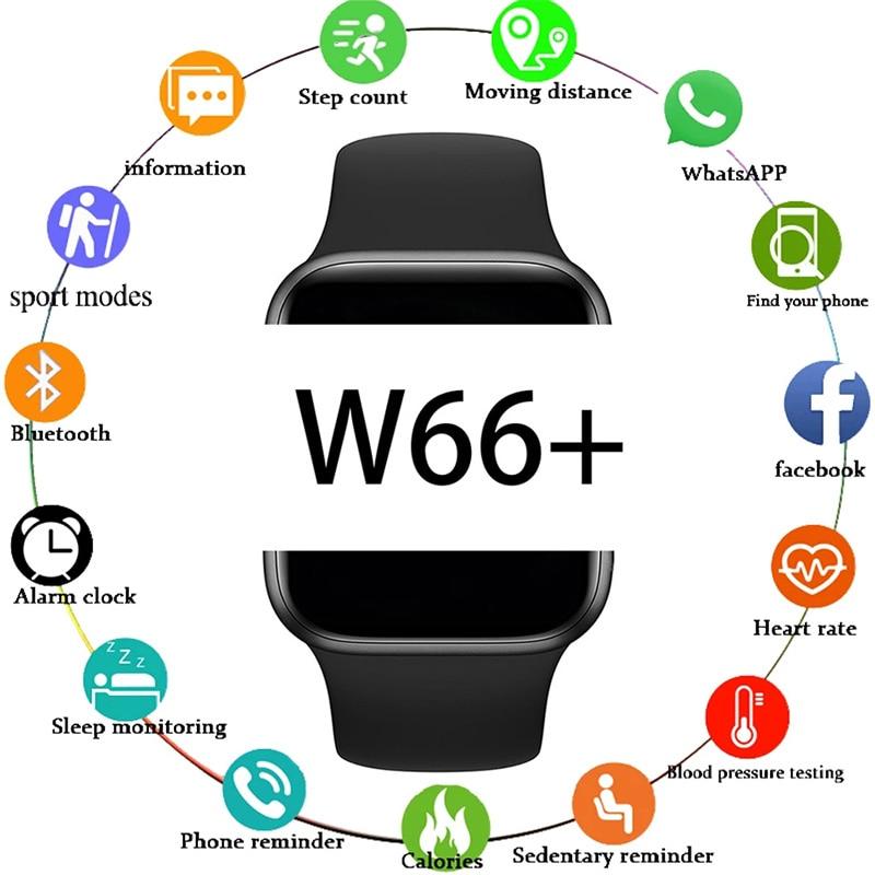 W66 Smart Watch 6 Men's Watch Women's Watches Wristwatch W66+ Smartwatch 2021 Bluetooth Call Smart Bracelet Clock Sleep Monitor