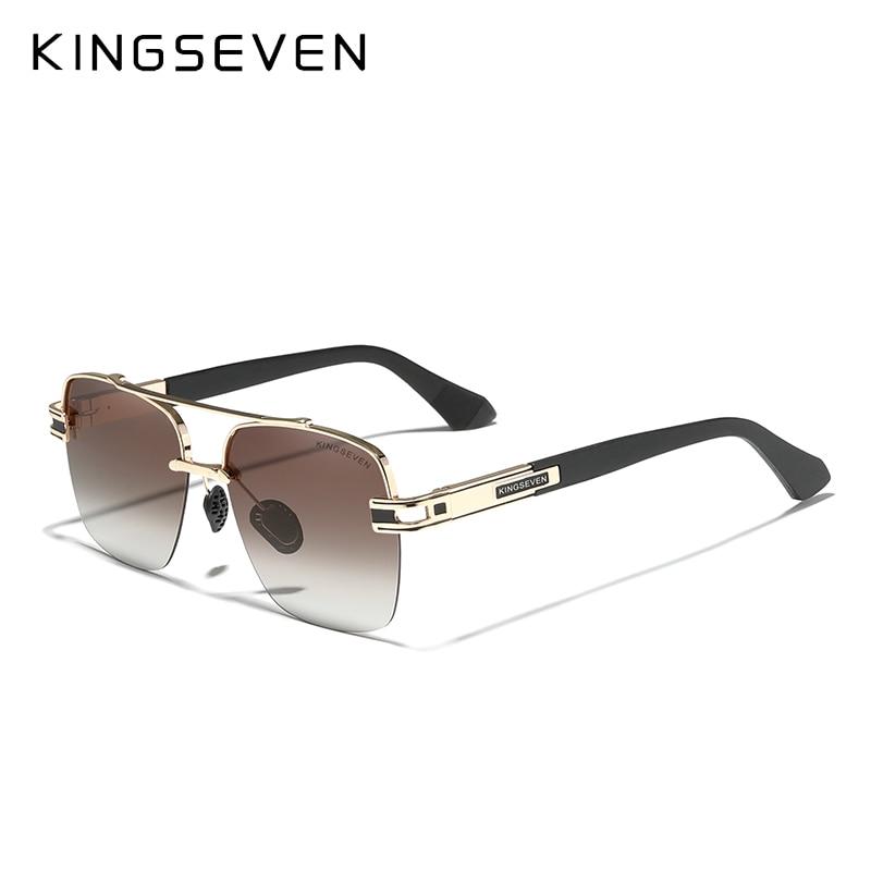 Солнцезащитные очки KINGSEVEN в стиле ретро для мужчин и женщин, поляризационные, градиентные, квадратной формы