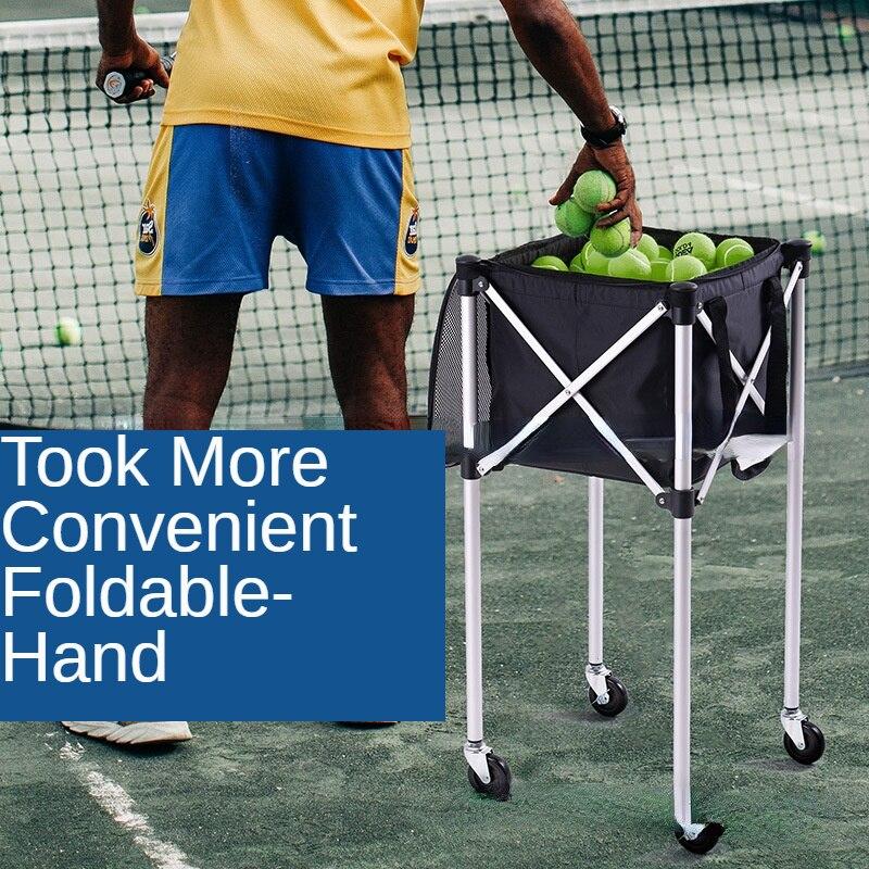 Outdoor Sports Tennis Training Ball Car Small Portable Belt Car Picking Ball Basket Storage Tool