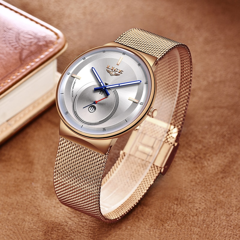 2021 Classic Women Rose Gold Top Brand Luxury Laides Dress Business Fashion Casual Waterproof Watches Quartz Calendar Wristwatch enlarge