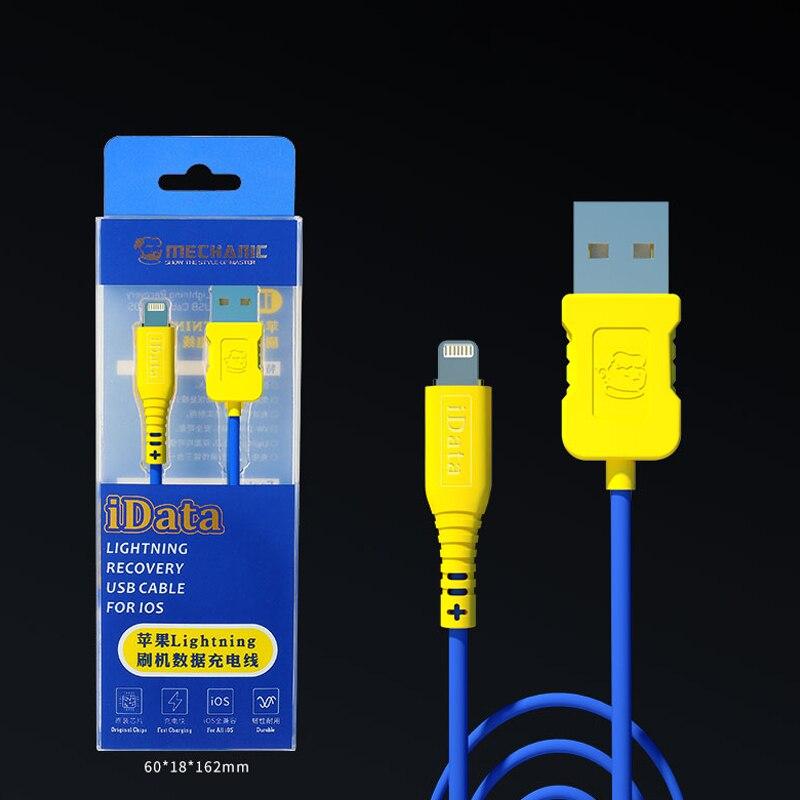Mecânico idata lightning dfu recuperação de carregamento transmissão dados cabo usb para ios ip almofada ferramentas reparo ipo