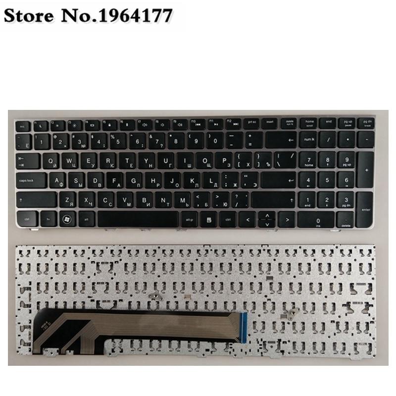 لوحة مفاتيح روسية للكمبيوتر المحمول بإطار فضي ، لجهاز HP PROBOOK 4530 ، 4530S ، 4730 ، 4730S ، 4535S ، 4735s ، RU ، جديد