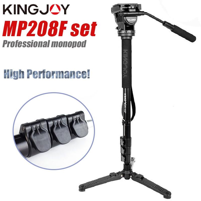 Kingjoy MP208F مجموعة المهنية Monopod مجموعة Dslr لجميع نماذج كاميرا حامل ثلاثي القوائم الفقرة موفيل مرنة Tripe Stativ SLR DSLR