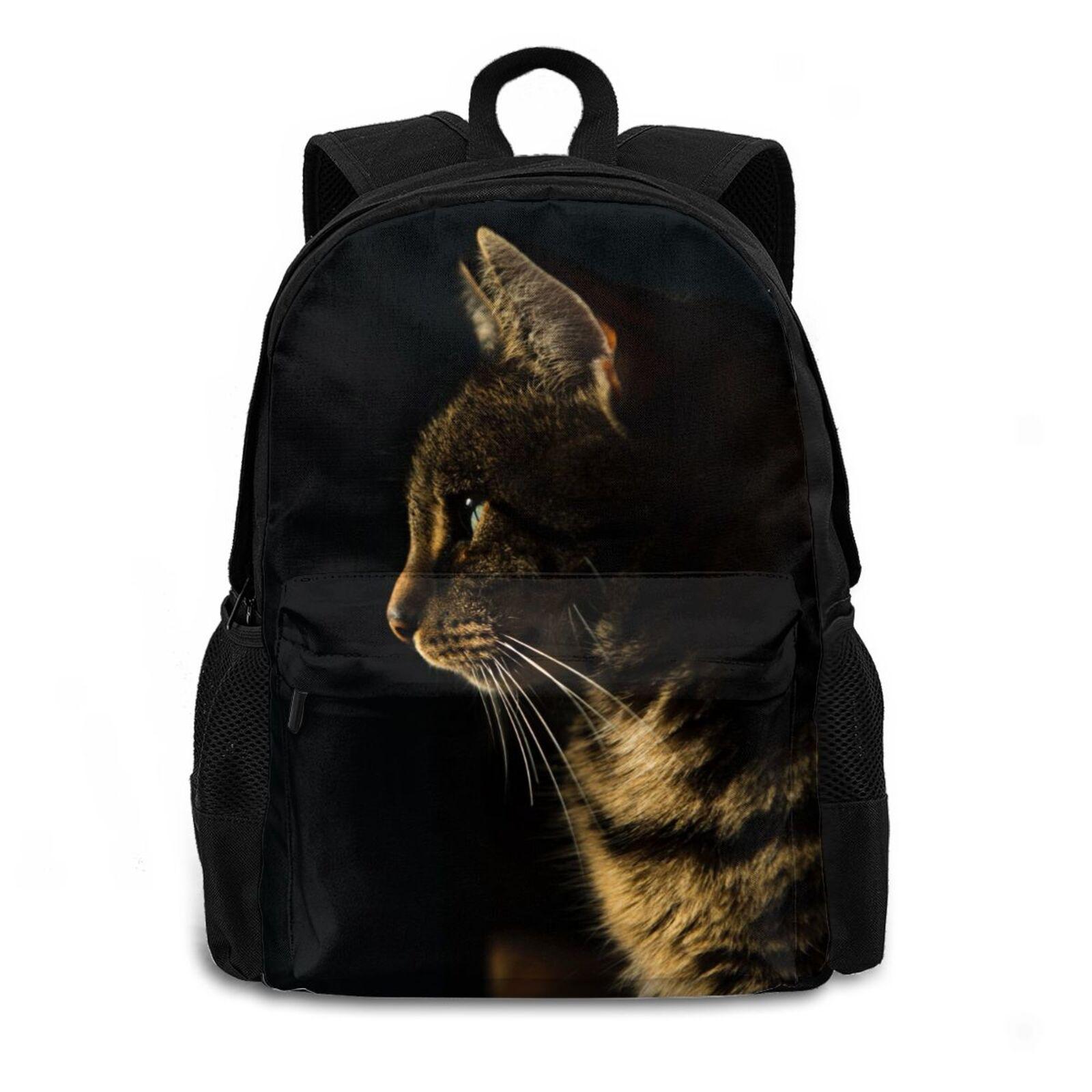 حقيبة ظهر ثلاثية الأبعاد للنساء الكلب القط الحصان حقيبة الكتب الشخصية للبنين والبنات حقيبة ظهر مدرسية مع حقيبة لاب توب 15in