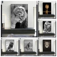 african wild black and white lions lover canvas art posters and prints lions canvas paintings on the wall art pictures cuadro