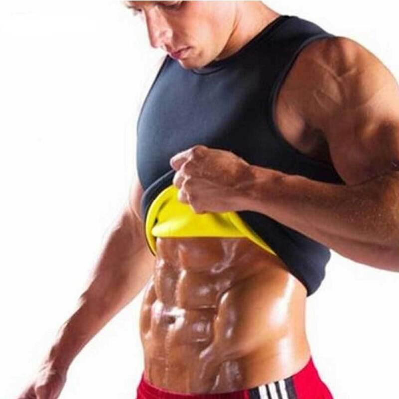 Chaleco de neopreno para gimnasio para hombres, camiseta de realce de cuerpo térmico, modelador adelgazante de cintura superior, entrenador de abdomen, formadores de sudor Ultra