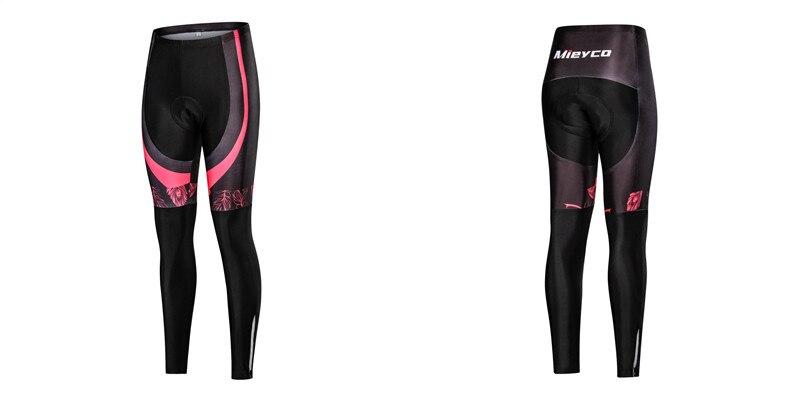 Mulher calças de ciclismo com 5d gel