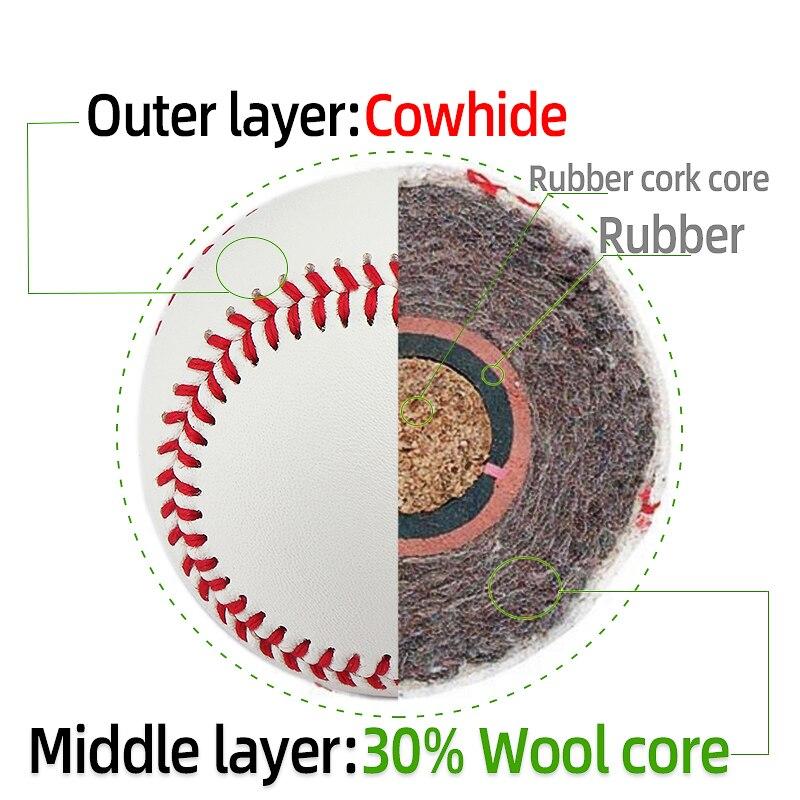 Baseballs de Couro Polegadas para a Competição do Jogo da Equipe Cattlehide Tamanho Lança Treinamento Captura 9 Que