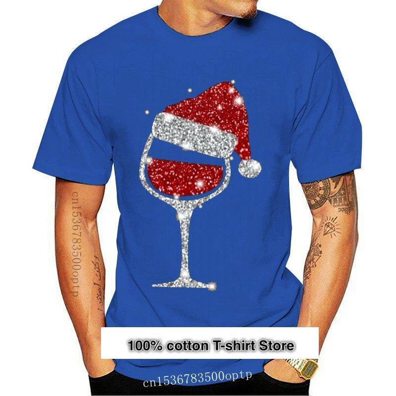 Camisa de vino de Navidad para hombres y mujeres de camiseta de...