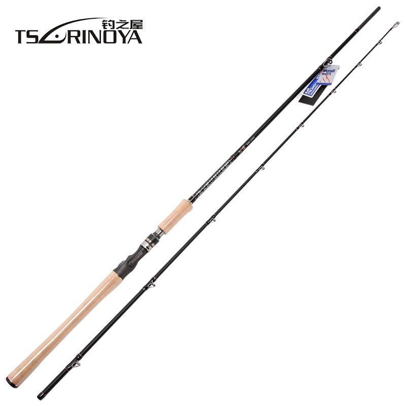 TSURINOYA Casting Rod 2.18m 2 Section Baitcasting Rod XH Power 40T Carbon Material 3A Cork Handle Pesca Tackle Stick