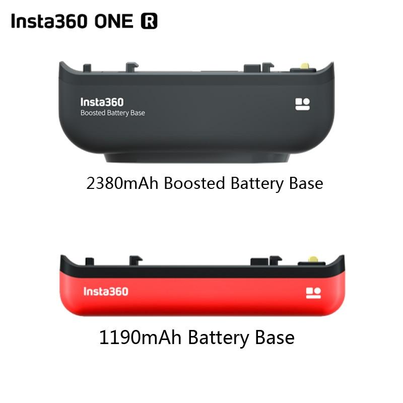Insta360-قاعدة بطارية ONE R أصلية ، 2380 مللي أمبير ، 1190 مللي أمبير ، لكاميرا Insta360 R All Mod Edition