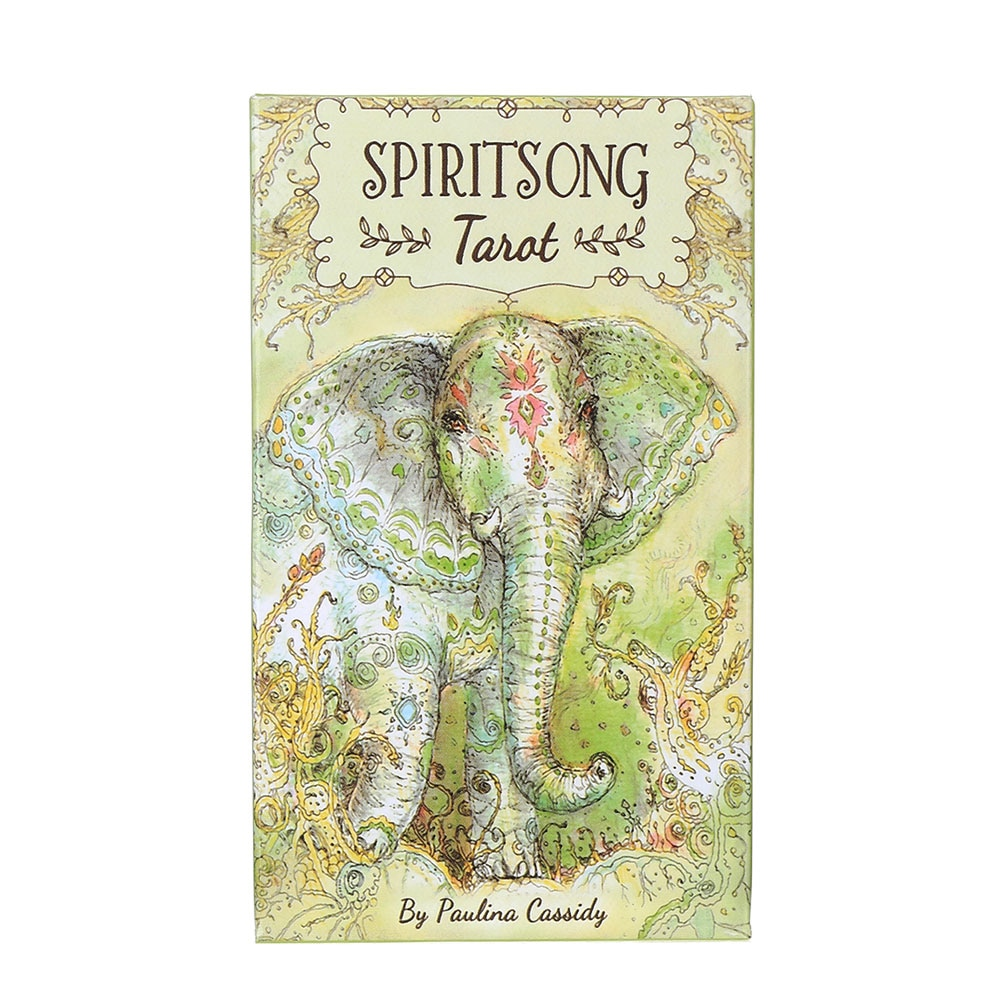 Spiritsong Tarot Cards Deck Games Oracle Party Playing Card English Tarot Table Board Game Divination Fate Entertainment fin sieve kipper tarot cards oracle english version board games family party playing card deck table game divination fate