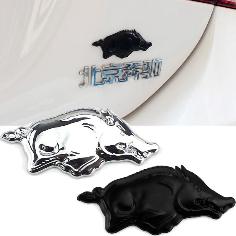 Insignia para Ford Focus Mondeo Dodge Jcuv Challenger Lexus, emblema para maletero trasero de coche, insignia con Logo de cerdo salvaje, pegatina de decoración automática