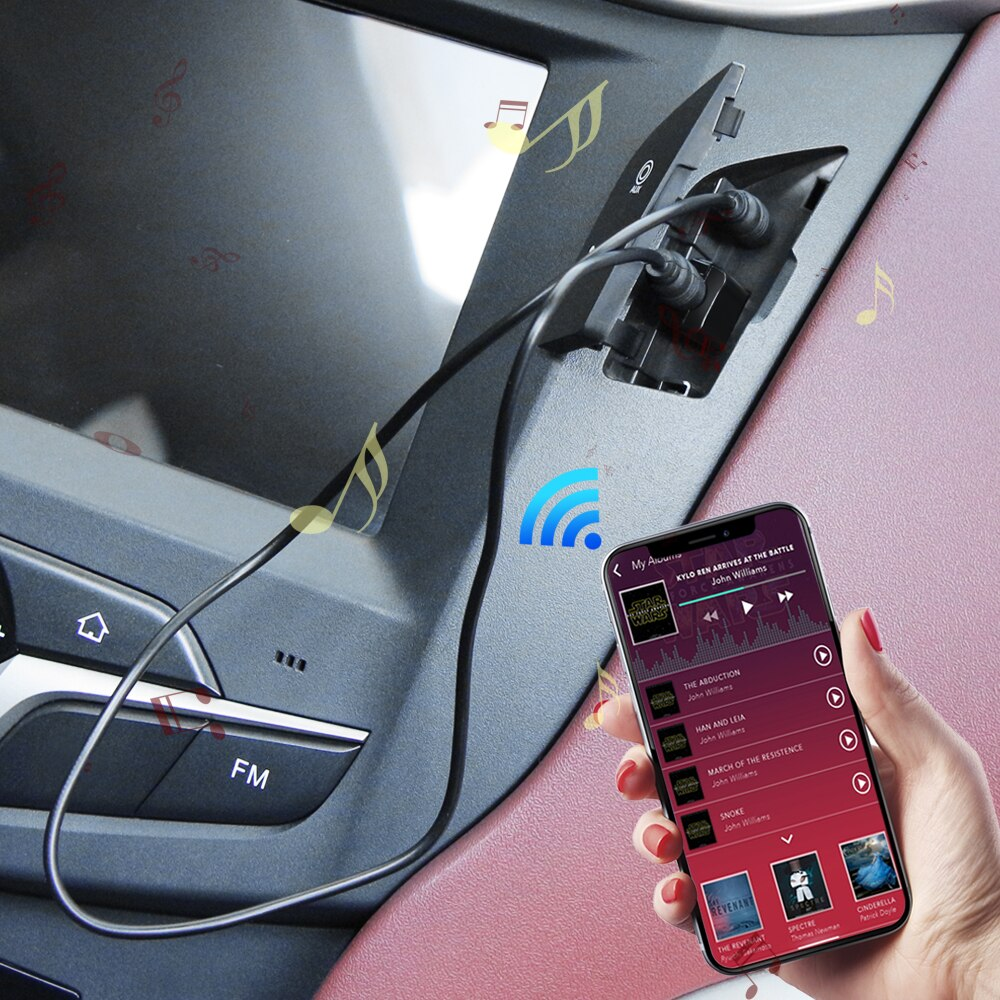 USB Bluetooth AUX Mini-Récepteur Adaptateur pour Nissan X-trail Juke Qashqai Micra Pulsar Qashqai Micra Juke Note Tiida Feuille
