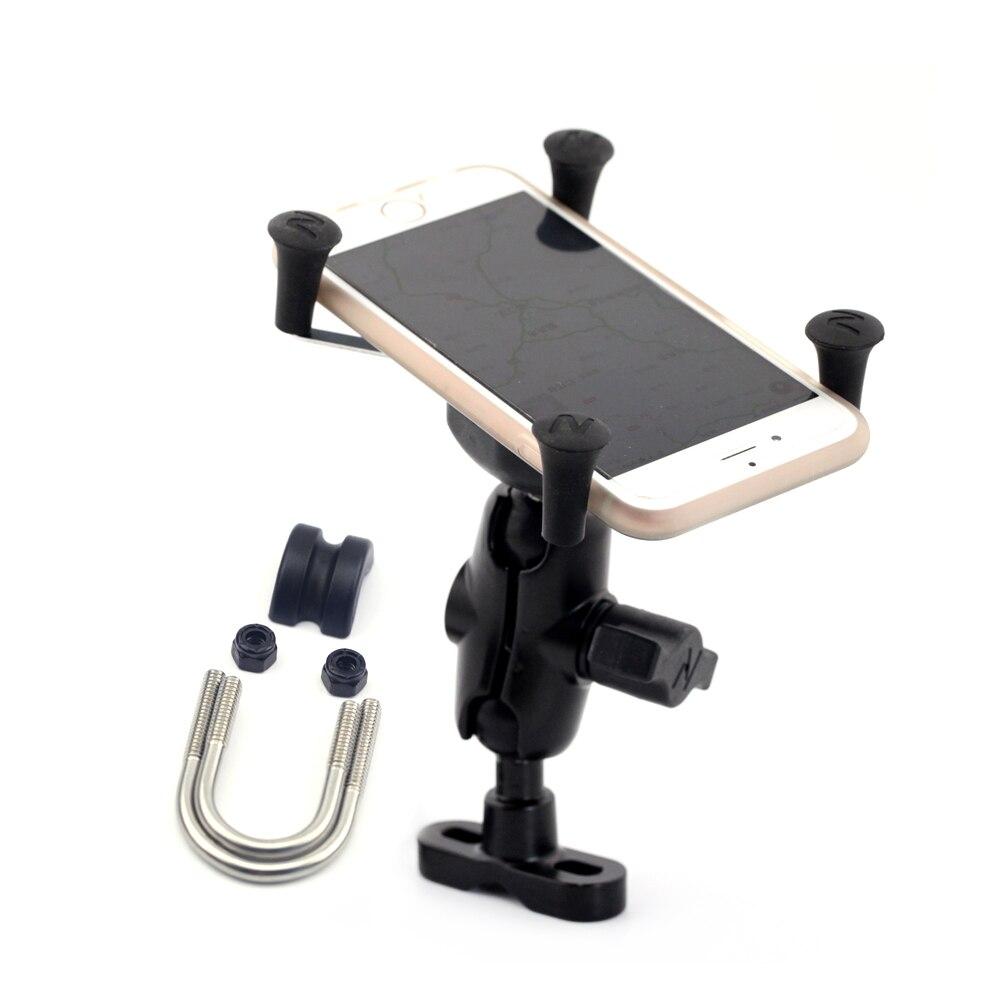 "GPS Navigation Mobile Phone Mount Bracket X-Grip Holder Motorcycle Accessories Universal for 22mm 7/8"" / 28mm 1 1/8"" Handlebar"