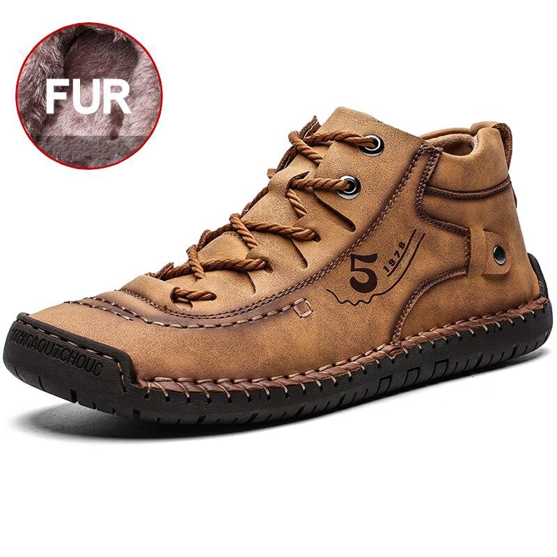 جديد مريح الرجال أحذية من الجلد مخيط يدويا عالية الجودة أحذية رجالي أحذية الموضة في الهواء الطلق الرجال حجم كبير 39-48