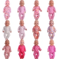 doll clothes cute doll pajamas pink series for 18 inch american doll girls new born baby for 43 cm accessoriesour generation