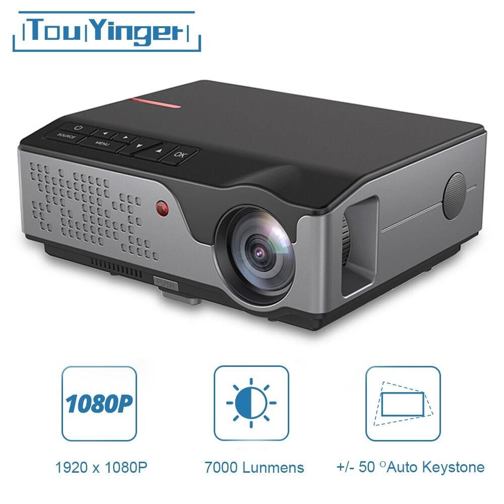 Touyinger-Proyector LED Full HD para cine en casa, dispositivo de proyección de...