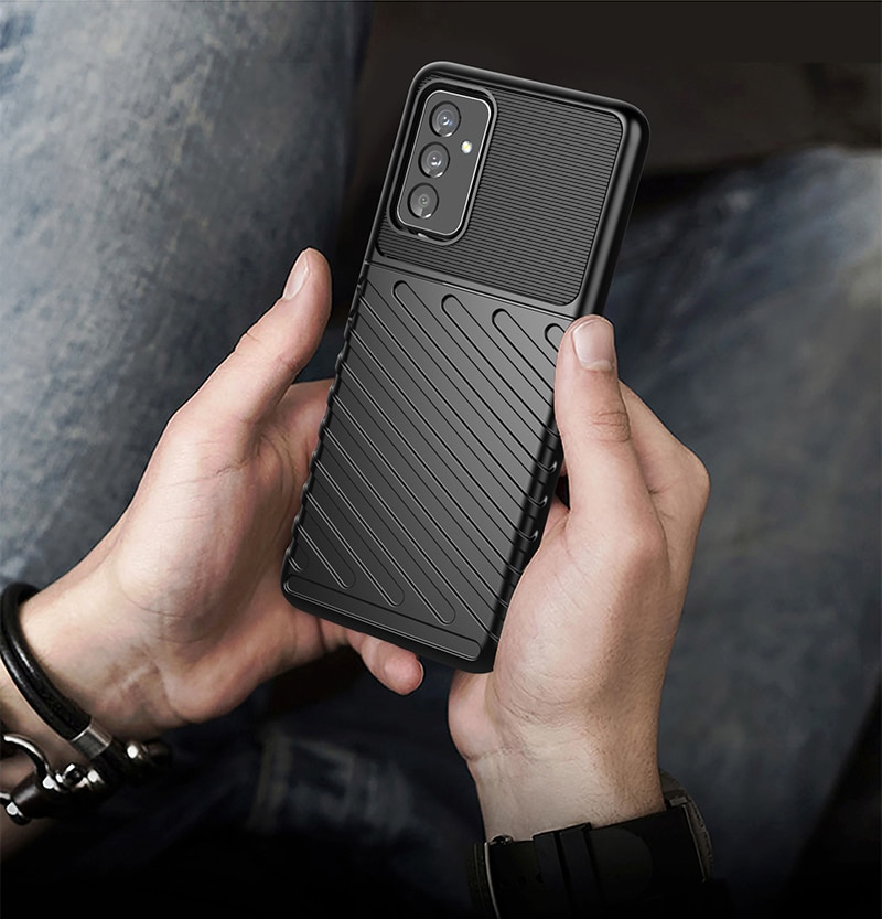 For Samsung Galaxy Quantum 2 Case Shockproof Bumper Armor Rugged Soft Silicone Phone Back Cover For Samsung A Quantum 2 Case  - buy with discount