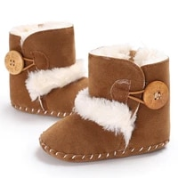 baby antiskid shoe winter boots baby girl boys winter warm shoes solid fashion toddler fuzzy first walkers kid shoes 0 18m