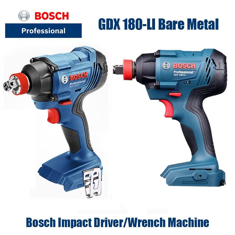 بوش أدوات كهربائية GDX180-Li مفك كهربائي مفك كهربائي المفتاح الكهربائي ليثيوم تأثير وجع (المعدن العارية)