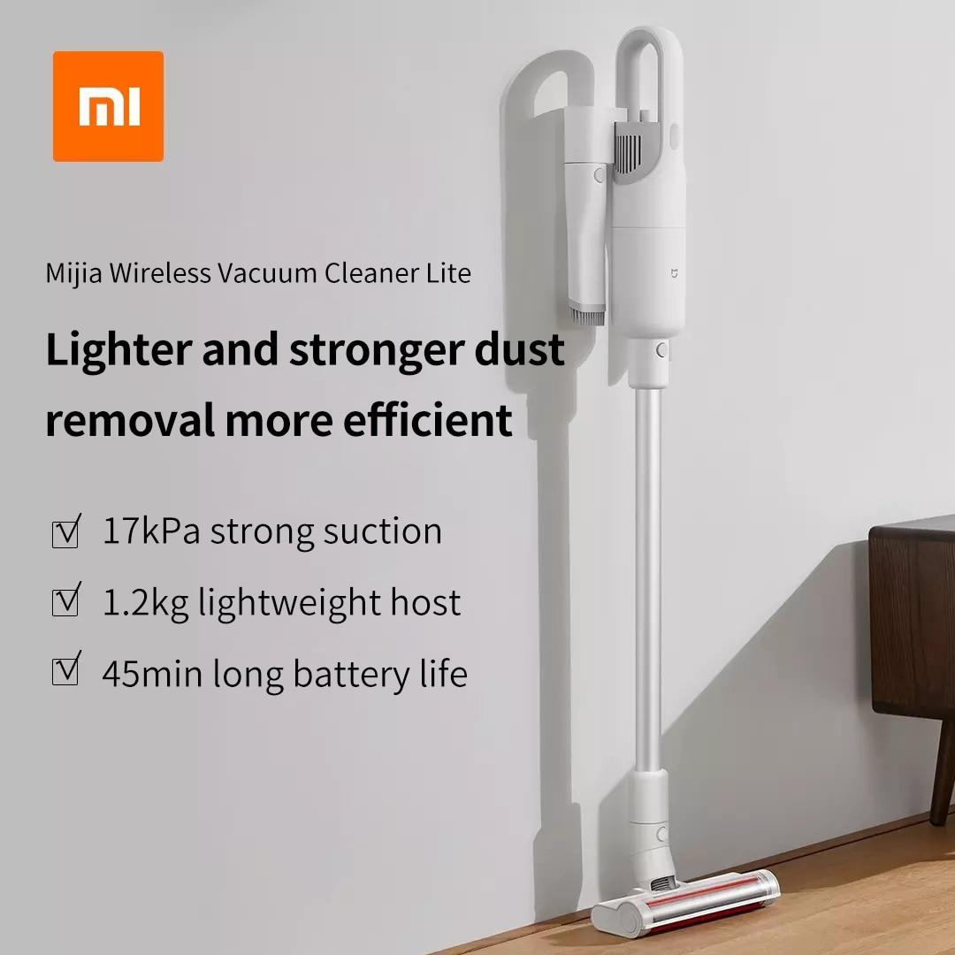 Xiaomi Mijia Lite-مكنسة كهربائية لاسلكية ، مكنسة كهربائية محمولة للمنزل والسيارة ، شفط عالي ، إزالة الغبار