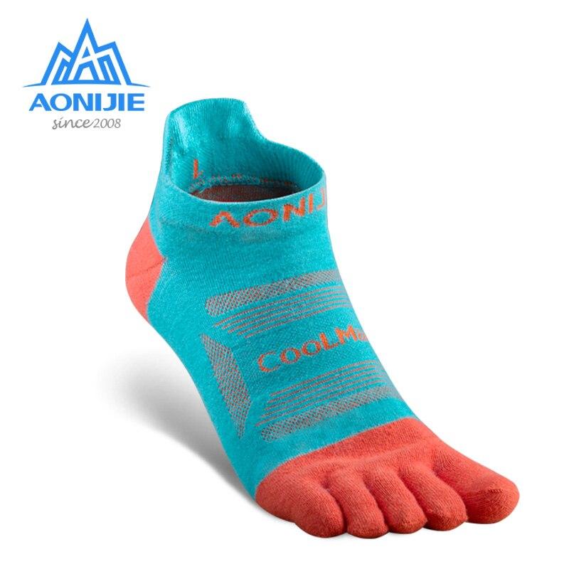 AONIJIE, 3 pares, calcetines atléticos de secado rápido de corte bajo, calcetines ultralivianos de cuarto, cinco dedos para Trail Running Marathon Race E4801 E4802