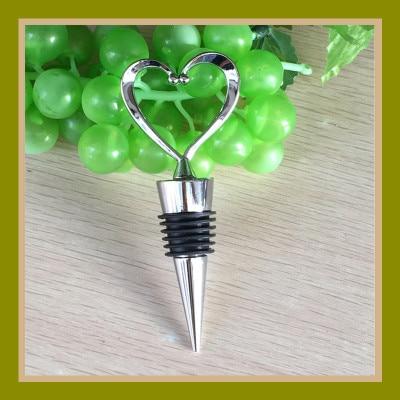 1 Uds elegante corazón rojo en forma de vino tapón para botellas de vino o champán de San Valentín regalos de boda envío gratis gran oferta