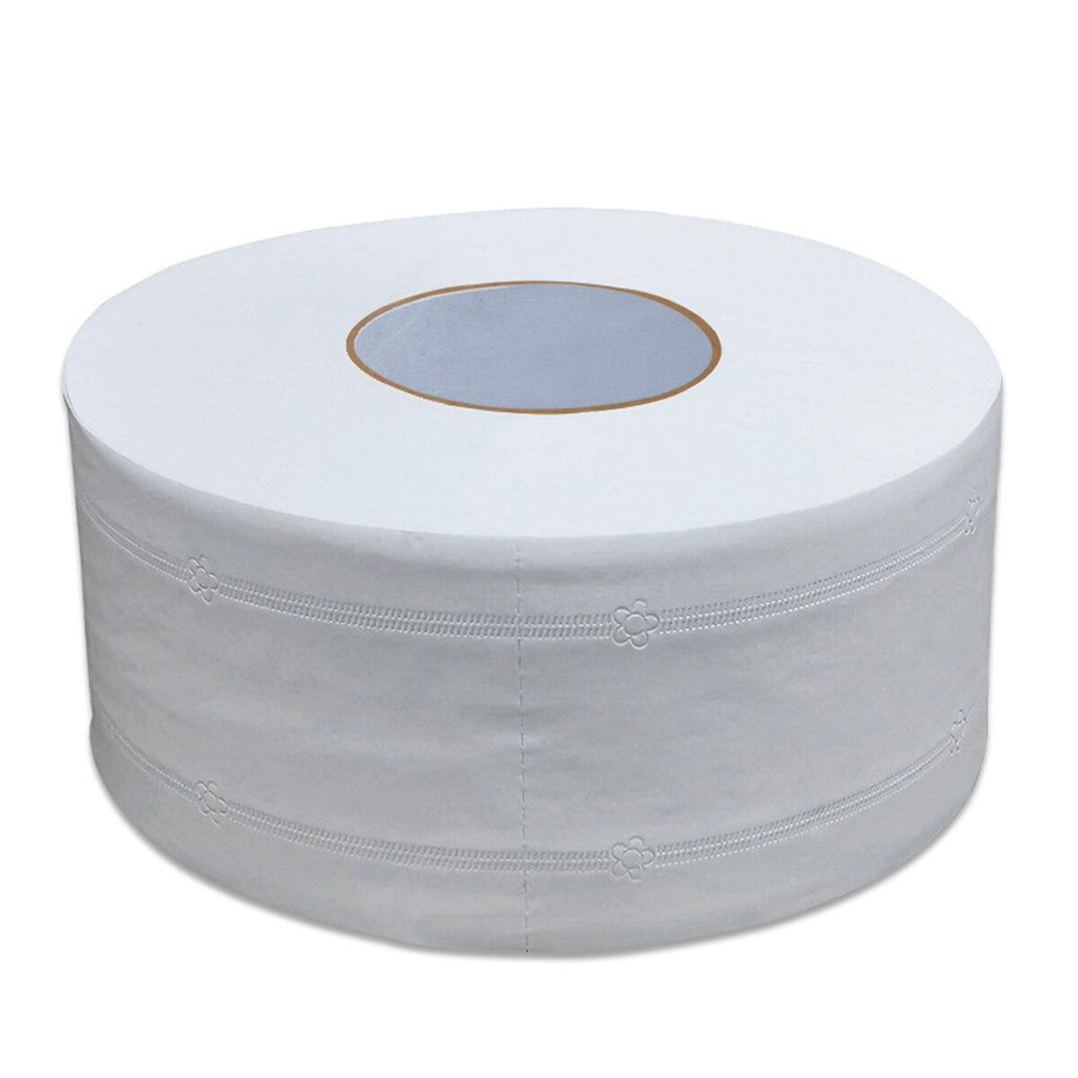 1 rollo de papel higiénico de alta calidad, rollo Jumbo, papel higiénico suave de madera nativa de 4 capas, papel de liar para el hogar, fuerte absorción de agua