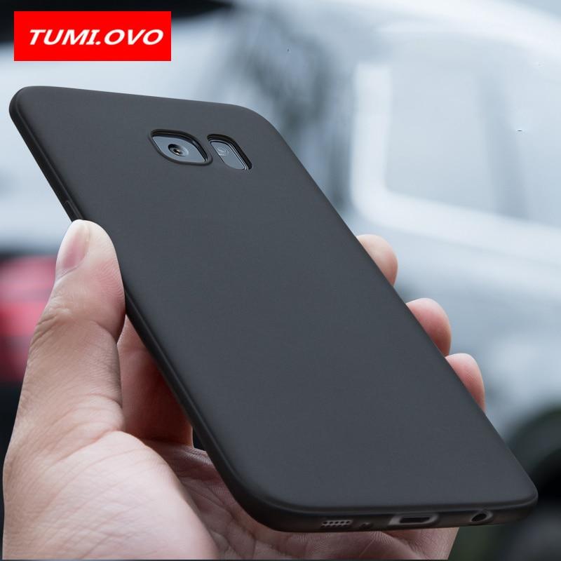 Funda de TPU mate suave Color caramelo negro para Samsung Galaxy S8 Plus S7 S6 Edge A3 A5 A7 J1 J3 J5 J7 2016 2017 fundas de silicona para teléfono