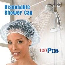 100pcs/lot Disposable Elastic Shower Hat Hair Salon Waterproof Hotel Bathing Cap Hat Hotel One-Off B