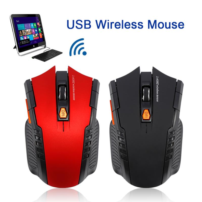 WH109 2.4GHz Wireless Gaming Mouse 1600DPI Gaming USB Optical Mouse Mice For Laptop Desktop PC Computer Peripherals Mice