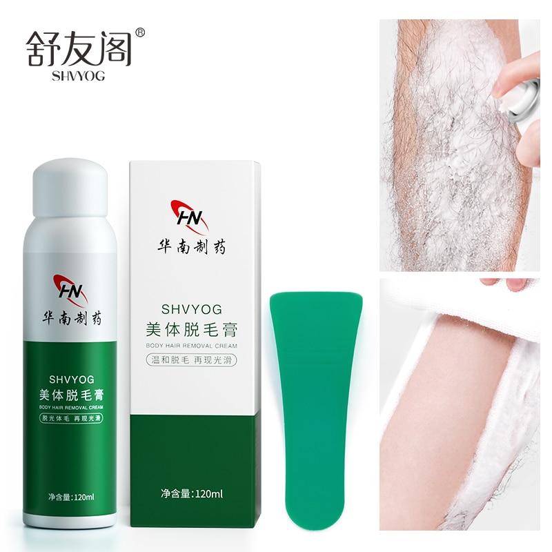 Shvyog indolor remoção do cabelo spray creme axilas mão perna corpo removedor de cabelo hidratante clareamento suave cuidados com a pele