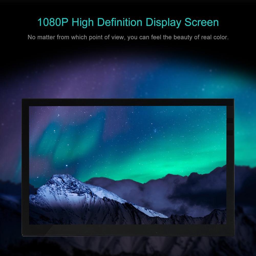13.3 بوصة شاشة محمولة HDMI-متوافق 1920x1080 HD IPS عرض شاشة LED الكمبيوتر مع حافظة جلدية ل PS4 برو/Xbox