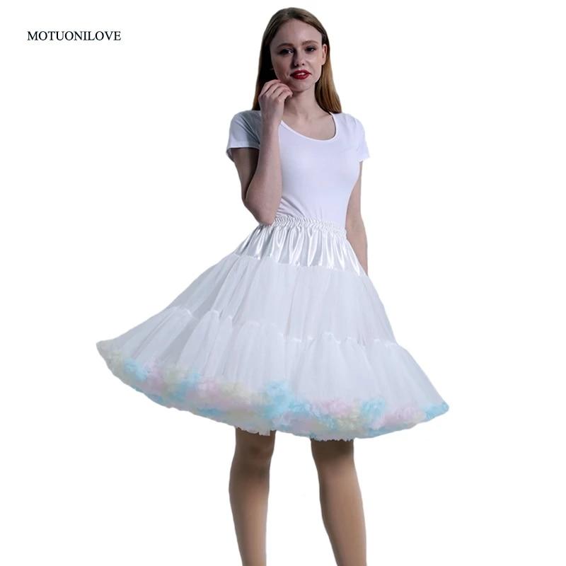 Free Swing Vintage Tutu 22 Underskirt Petticoat Crinoline Fancy Net Skirt Rockabilly Short Dress 55 CM Wedding Bridal Petticoat