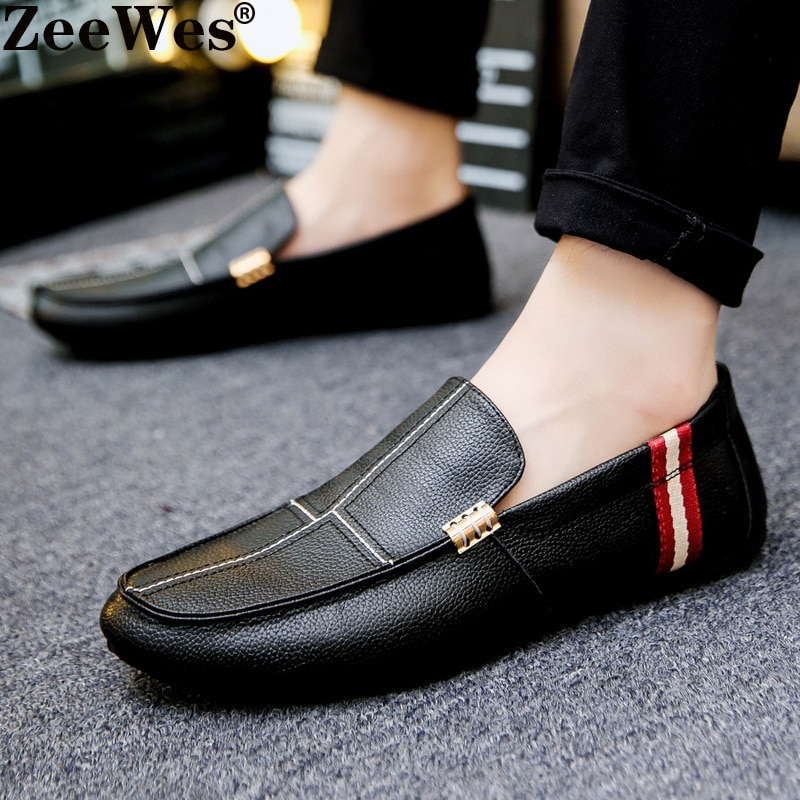 Fashion Mens Breathable Loafers Shoes Designer Men Sneakers High Quality Trainers Casual Genuine Leather Piel
