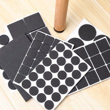 1-24PCS Verdickung Self Adhesive Möbel Bein Füße Teppich Filz Pads Anti Slip Matte Stoßstange Dämpfer Für Stuhl tabelle Protector Hardware