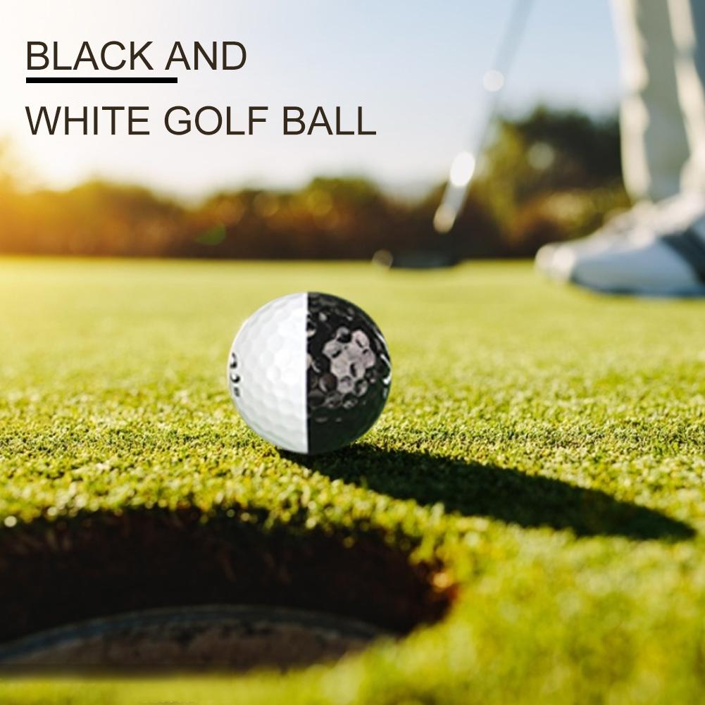 Juego de pelotas de Golf de larga distancia 2 capas de bolas de Golf accesorios de entrenamiento para Putters blanco y negro