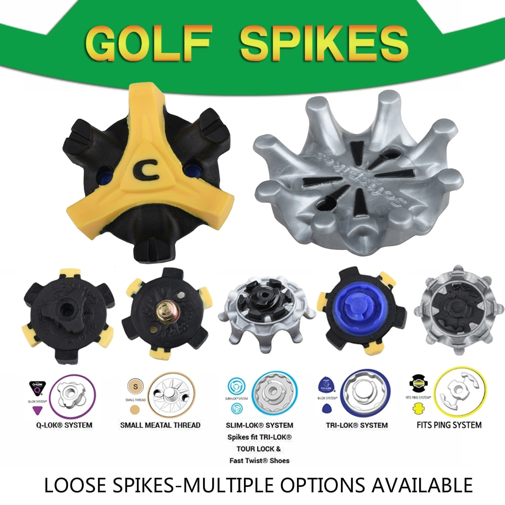 14Pcs Golf Shoes Spikes Cleats LOOSE Various Options Golf spikes Replacement FIT PING/TRI-LOK/SLIM-LOK/SMALL MEATAL/Q-LOK SYSTEM
