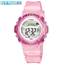 SYNOKE Children's Watches Sports Watch Colorful Waterproof Luminous Kids Digital Wristwatch Alarm Bo