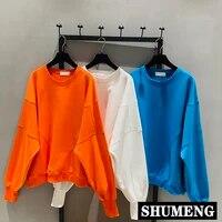 streetwear 2020 multi color pullover hoodie ladies super fire bat sleeve oversize hoodie coat student cotton sweatshirt hoody