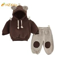 hzxvic jumpsuit for kids sets for baby childrens clothing boys hooded clothes warm hoodiepant 2pcs girl set suit from 9 to 36m