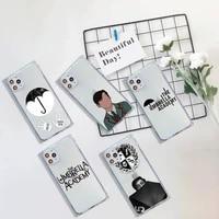 umbrella academy art design phone case for iphone 7 8 11 12 x xs xr mini pro max plus clear square transparent