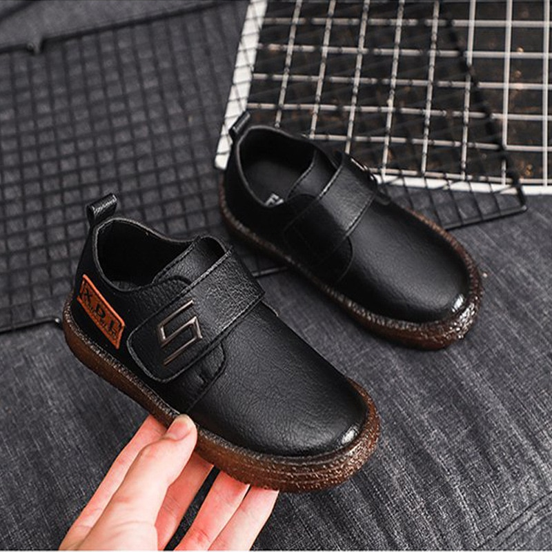 Kids Genuine Leather Shoes For Boys School Show Dress Shoes Flats Classic British Oxford Shoes Child