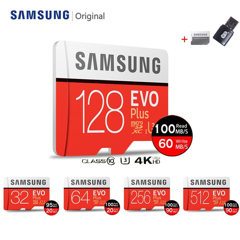 SAMSUNG Micro SD Card TF32gb 64gb 128gb Flash Memory Card 256gb 512gb Memory Card 128G 100MB U3 Flash Drives For Nintendo Switch