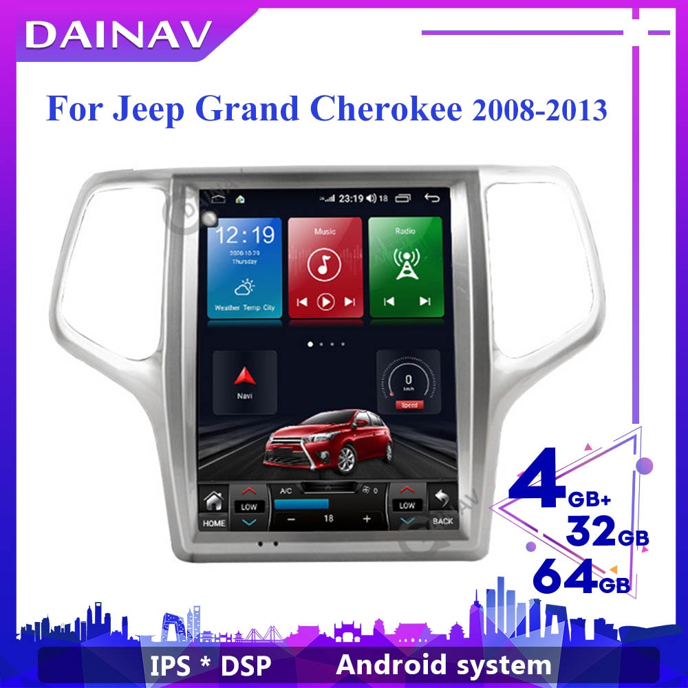 Pantalla Vertical auto Radio estéreo para JEEP Grand Cherokee 2008-2013 Autoradio GPS...