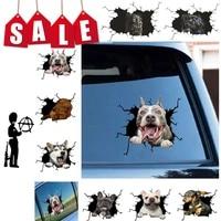 dog crack wall stickers creative home car windows decoration sticker toilet fridge pitbull dachshund husky bulldog crack sticker