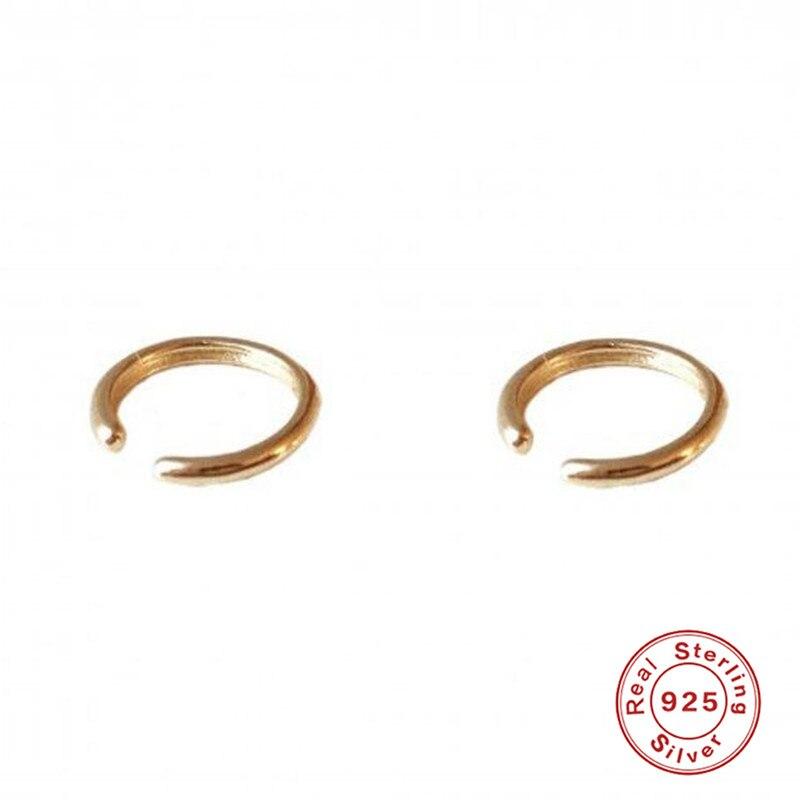 Pendientes de plata de ley 925 con clip para oreja para mujer, modelo A30