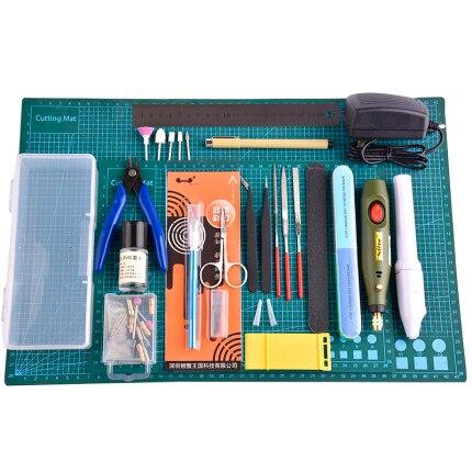 Набор инструментов для моделирования, в комплекте мат для резки, самовосстанавливающийся шлифовальный станок, набор инструментов для полировки Gundam